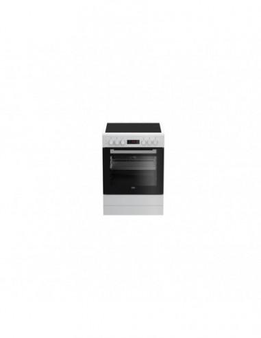 Cuisinière Vitrocéramique  Blanche BEKO FSE67300WCS