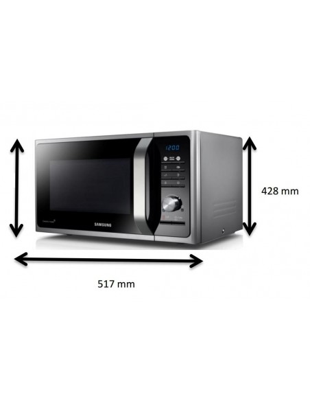 Micro-ondes monofonction 28L Silver SAMSUNG MS28F303TFS