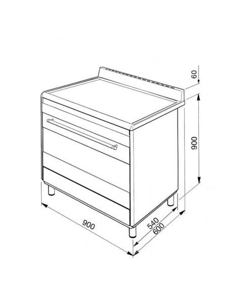 Piano de cuisson Multifonction Inox SMEG BG91X