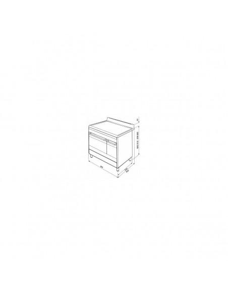 Piano de cuisson 90cm SMEG SCB92MRW8